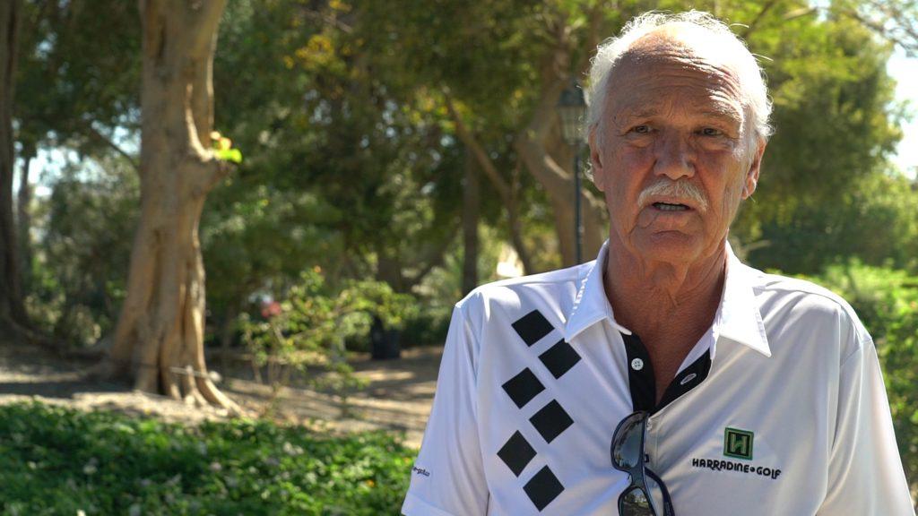 Foto von Peter Harradine, einem Schweizer, der in Dubai lebt und weltweit Golfplätze baut.